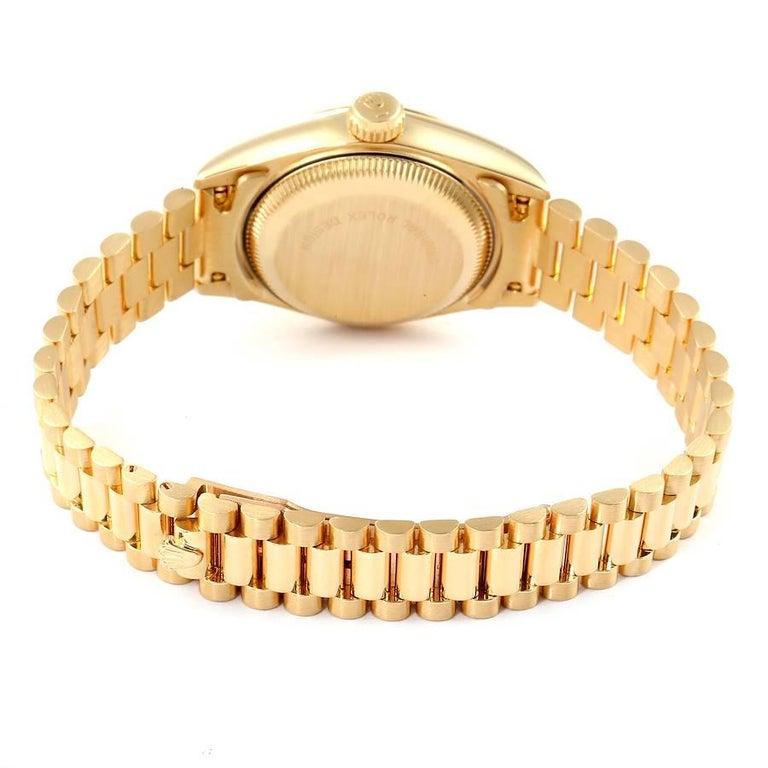 Rolex President Datejust 18K Yellow Gold Diamond Ladies Watch 69178 5