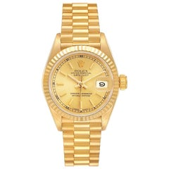 Rolex President Datejust 18K Yellow Gold Ladies Watch 69178
