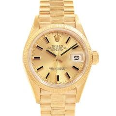 Rolex President Datejust 26 18 Karat Yellow Gold Ladies Watch 69278