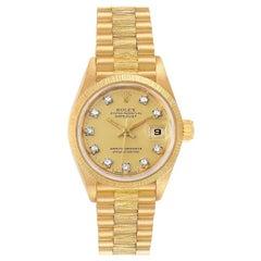 Rolex President Datejust 26 Yellow Gold Diamond Ladies Watch 69278