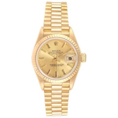Rolex President Datejust Yellow Gold Ladies Watch 79178 Box Papers