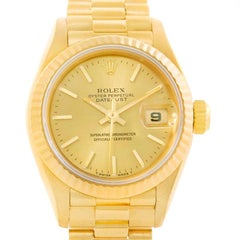 Rolex President Datejust Ladies 18 Karat Yellow Gold Automatic Watch 69178