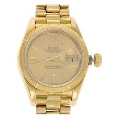 Rolex President Datejust Ladies Watch, 18 Karat Gold Automatic 2 Year Wnty 69278