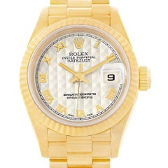 Rolex President Datejust Ladies Yellow Gold Watch 69178 Box Papers