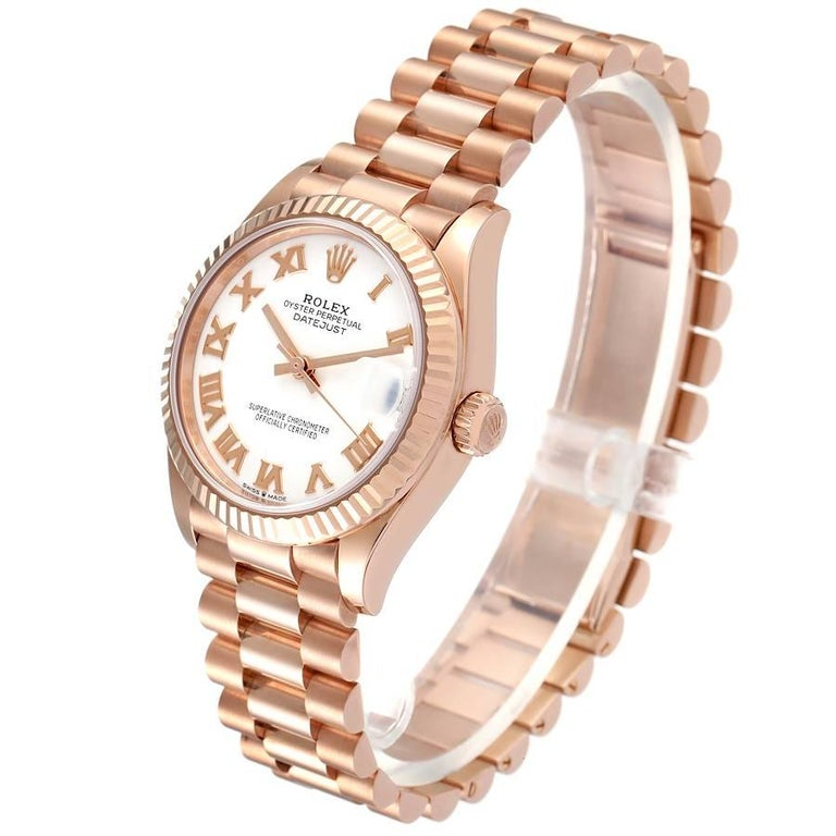 Women's Rolex President Datejust Midsize 31 Rose Gold Ladies Watch 278275 Unworn For Sale