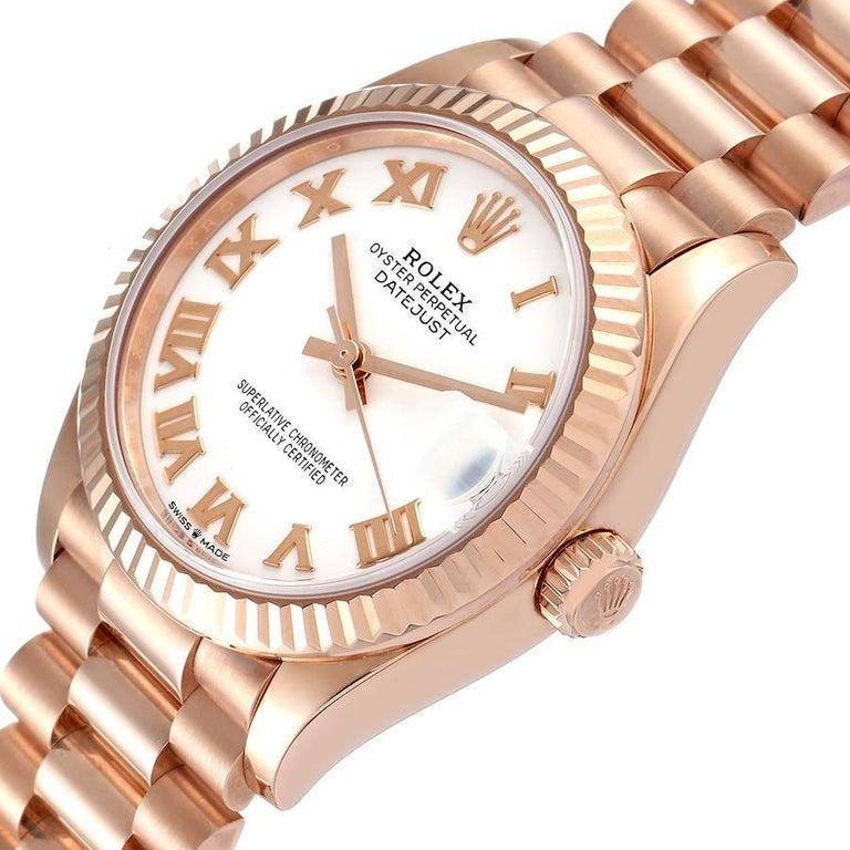 Rolex President Datejust Midsize 31 Rose Gold Ladies Watch 278275 Unworn For Sale 1