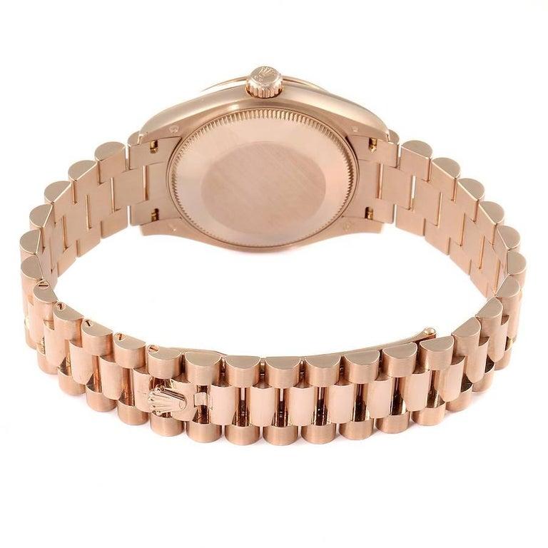 Rolex President Datejust Midsize 31 Rose Gold Ladies Watch 278275 Unworn For Sale 3