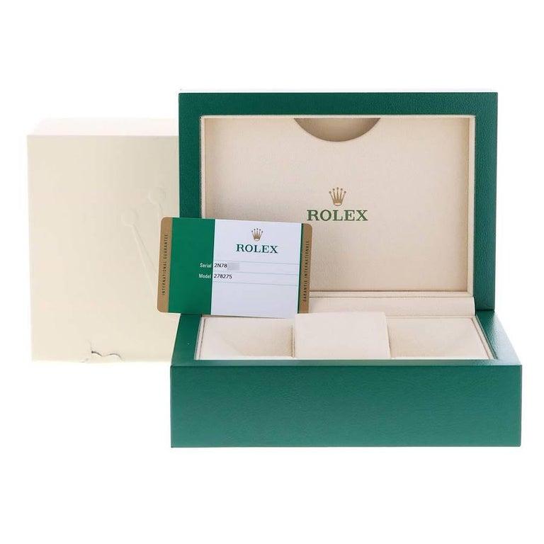 Rolex President Datejust Midsize 31 Rose Gold Ladies Watch 278275 Unworn For Sale 5