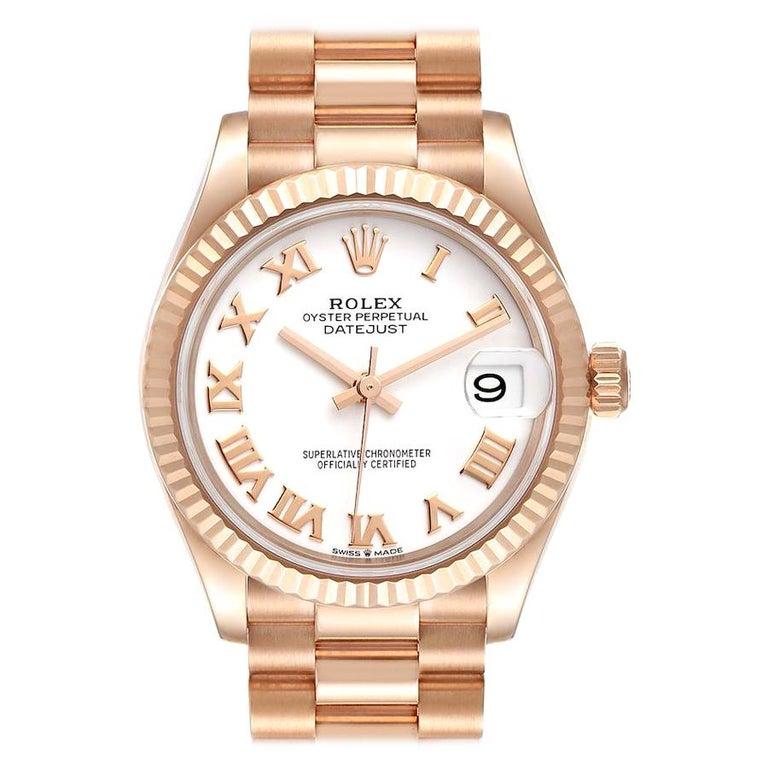 Rolex President Datejust Midsize 31 Rose Gold Ladies Watch 278275 Unworn For Sale