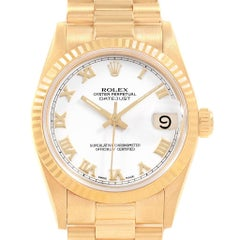 Rolex President Datejust Midsize 31 Yellow Gold Ladies Watch 68278