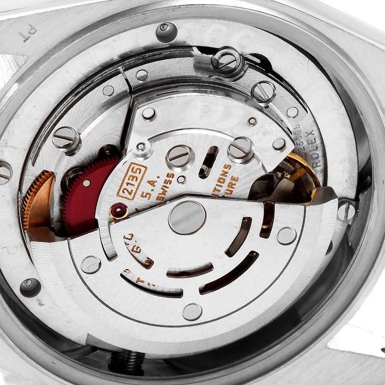 Rolex President Datejust Midsize Platinum Diamond Ladies Watch 68286 2