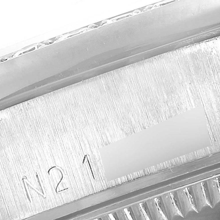 Rolex President Datejust Midsize Platinum Diamond Ladies Watch 68286 For Sale 2
