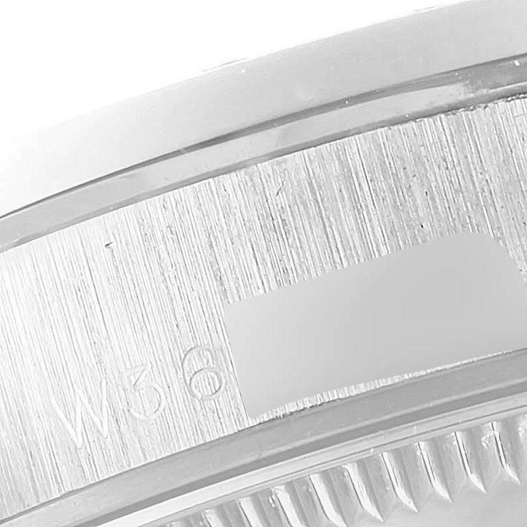 Rolex President Datejust Midsize Platinum Diamond Ladies Watch 68286 3
