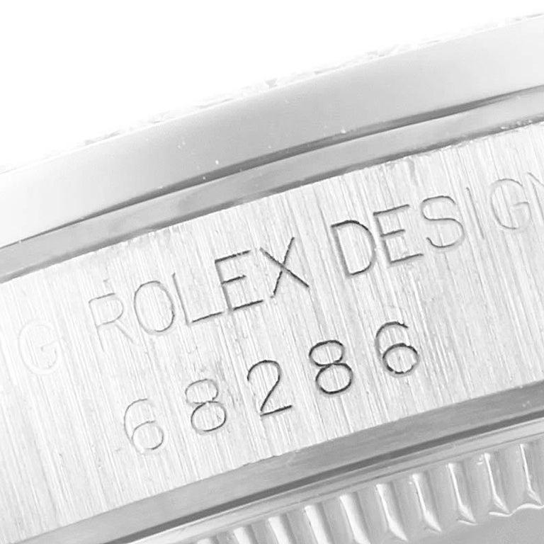 Rolex President Datejust Midsize Platinum Diamond Ladies Watch 68286 4