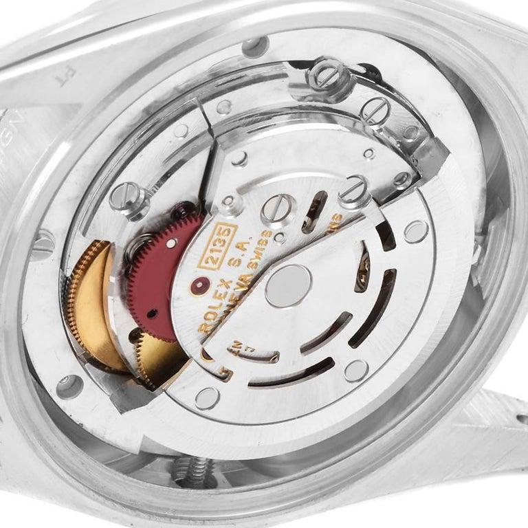 Rolex President Datejust Midsize Platinum Diamond Ladies Watch 68286 For Sale 4
