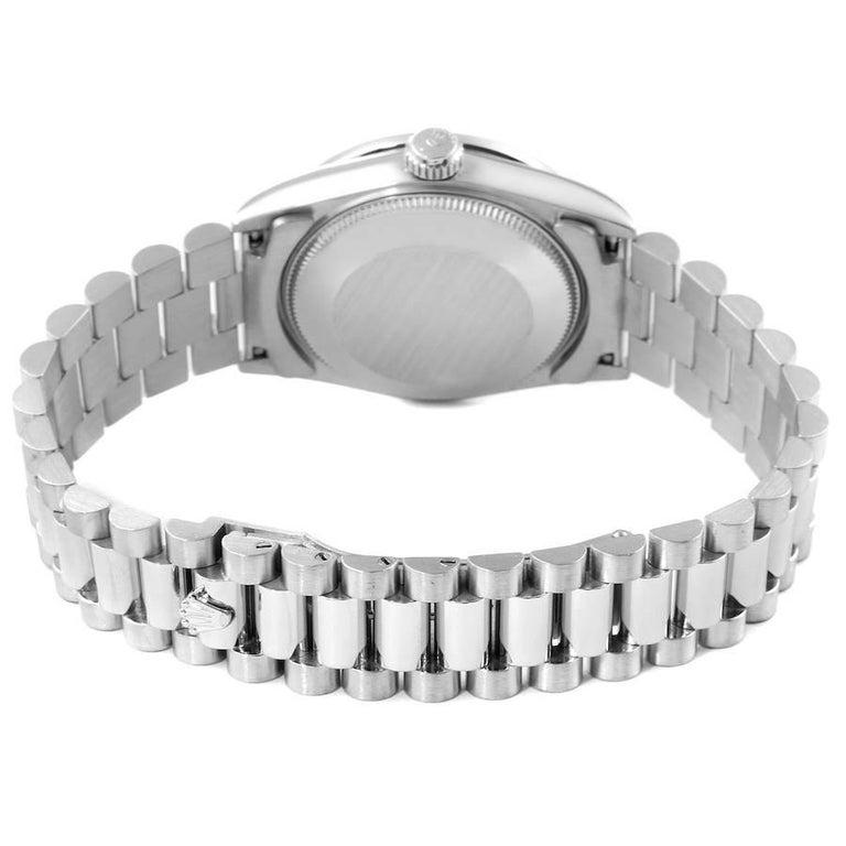 Rolex President Datejust Midsize Platinum Diamond Ladies Watch 68286 5