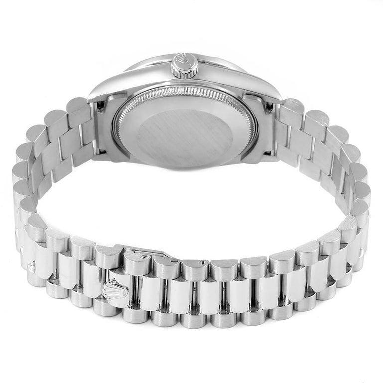 Rolex President Datejust Midsize Platinum Diamond Ladies Watch 68286 For Sale 5