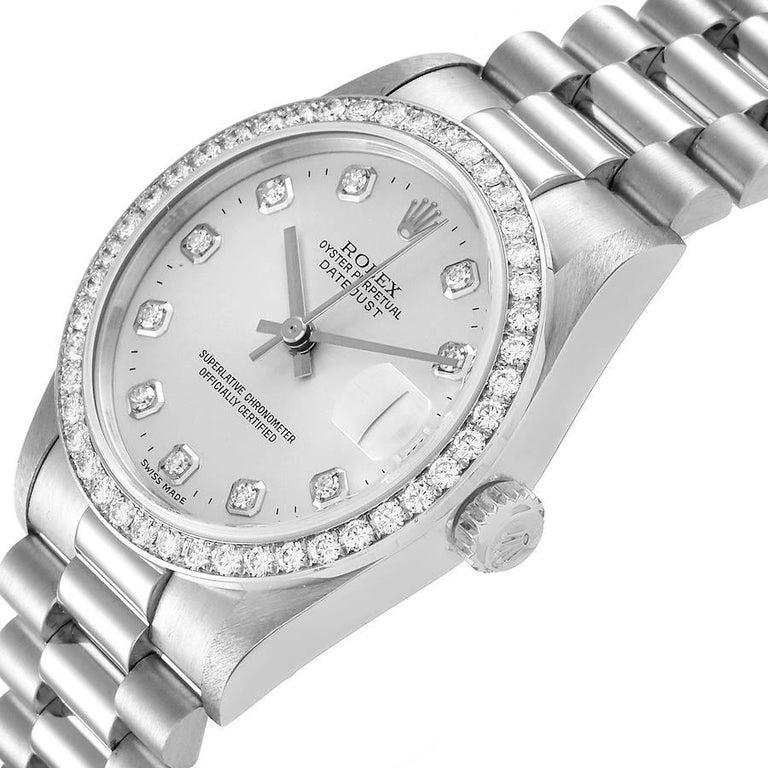 Rolex President Datejust Midsize Platinum Diamond Ladies Watch 78286 For Sale 1