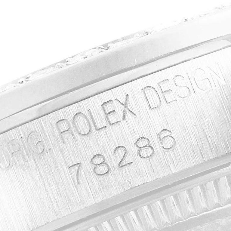 Rolex President Datejust Midsize Platinum Diamond Ladies Watch 78286 For Sale 2