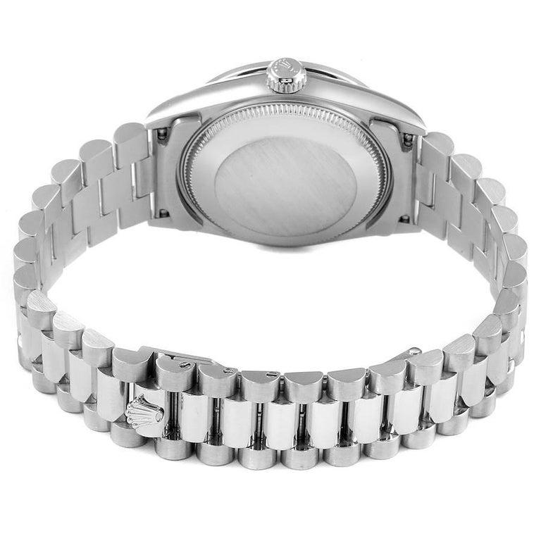 Rolex President Datejust Midsize Platinum Diamond Ladies Watch 78286 For Sale 5