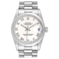 Rolex President Datejust Midsize White Gold Ladies Watch 68279