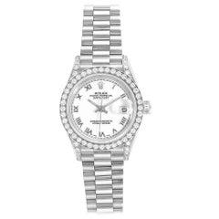 Rolex President Datejust White Gold Diamond Ladies Watch 69159