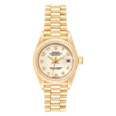 Rolex President Datejust Yellow Gold Anniversary Dial Ladies Watch 69178