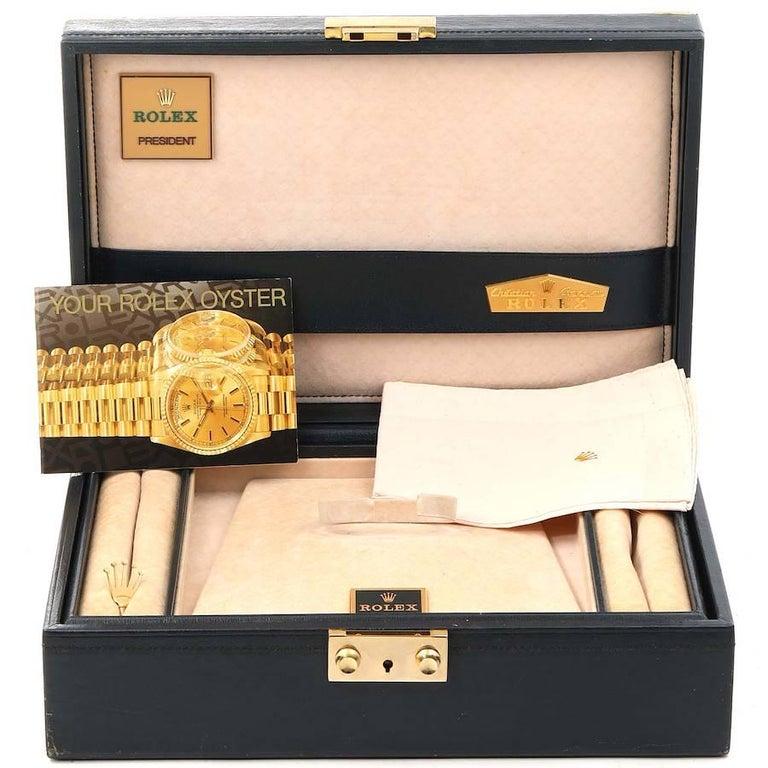 Rolex President Datejust Yellow Gold Diamond Ladies Watch 69138 7
