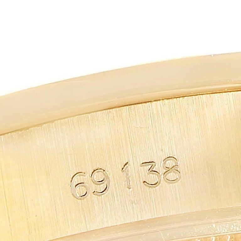 Rolex President Datejust Yellow Gold Diamond Ladies Watch 69138 2