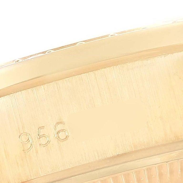 Rolex President Datejust Yellow Gold Diamond Ladies Watch 69138 3