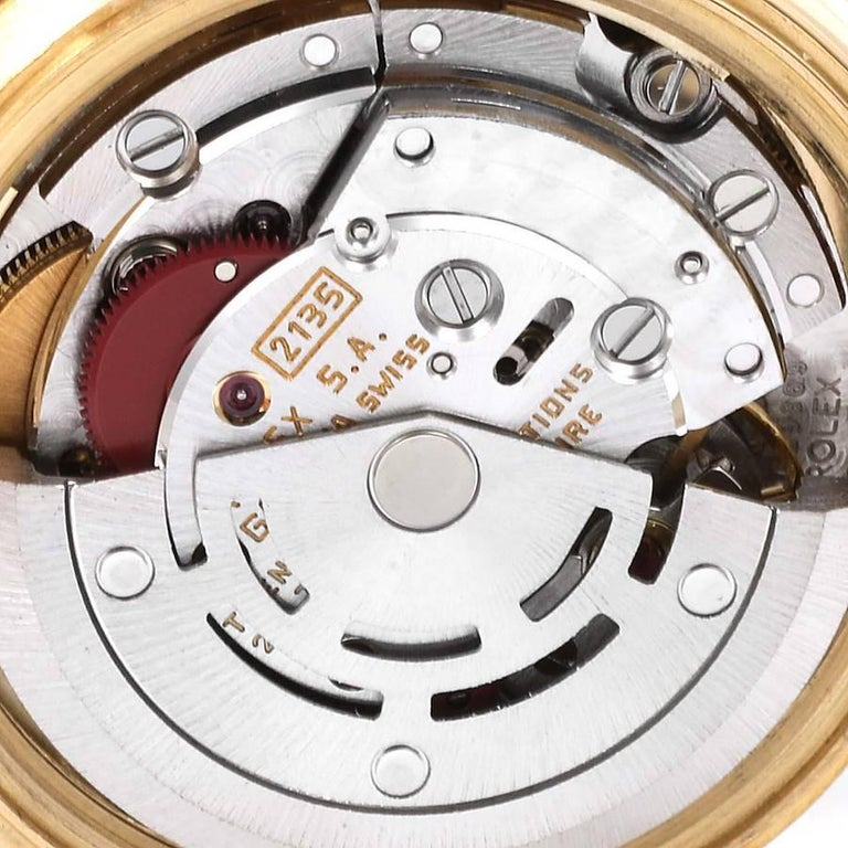 Rolex President Datejust Yellow Gold Diamond Ladies Watch 69138 4