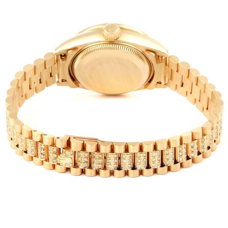 Rolex President Datejust Yellow Gold Diamond Ladies Watch 69138 5