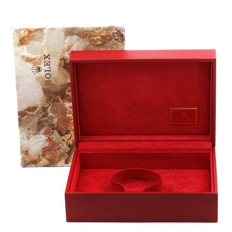 Rolex President Datejust Yellow Gold Diamond Rubies Ladies Watch 69138 For Sale 7