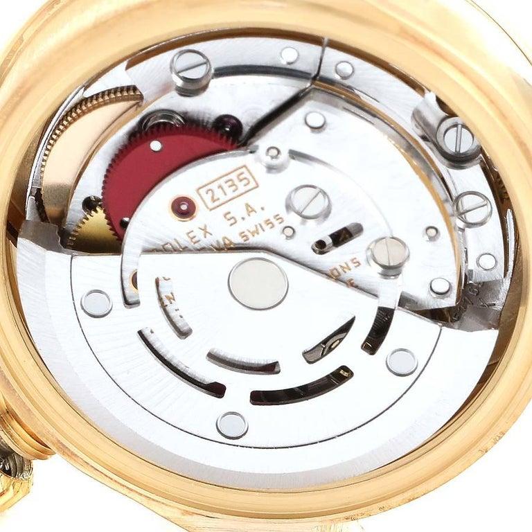 Rolex President Datejust Yellow Gold Diamond Rubies Ladies Watch 69138 For Sale 4
