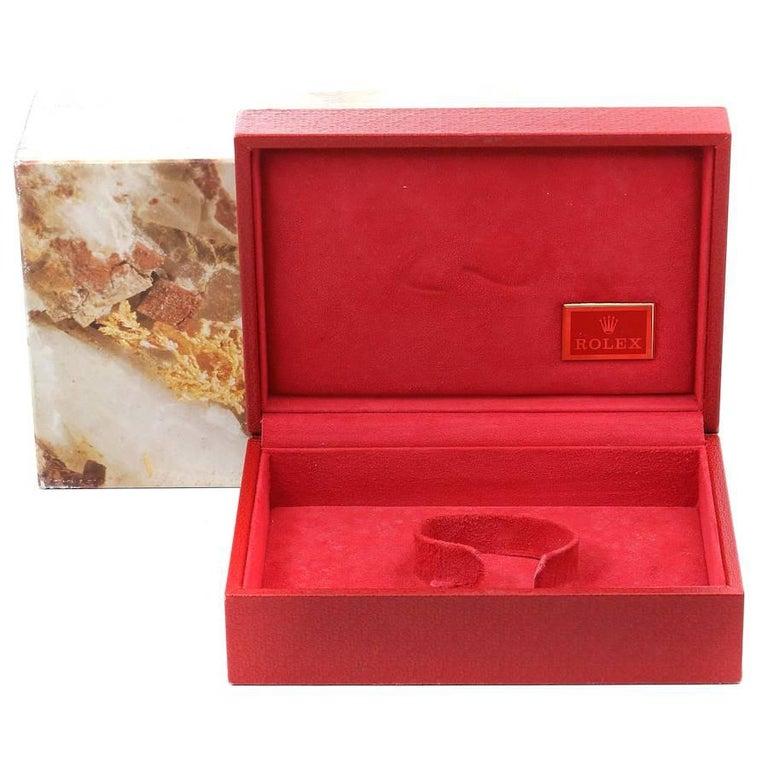 Rolex President Datejust Yellow Gold Diamond Sapphires Ladies Watch 69138 7