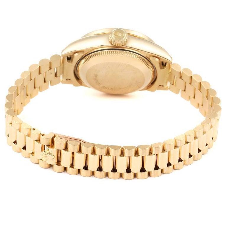 Rolex President Datejust Yellow Gold Diamond Sapphires Ladies Watch 69138 5