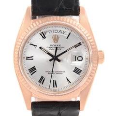 Rolex President Day-Date 18 Karat Rose Gold Buckley Dial Men's Watch 1803