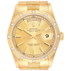 Rolex President Day-Date 18 Karat Yellow Gold Diamond Men's Watch 18308