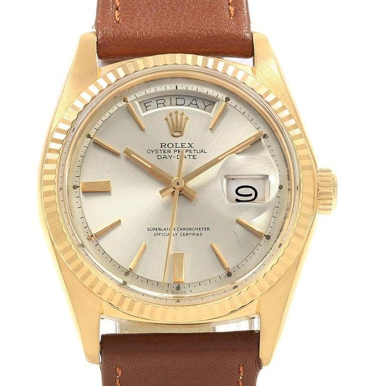Rolex President Day Date 18 Karat Yellow Gold Vintage Mens Watch 1803