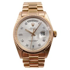 Rolex President Day Date 1803 18 Karat Rose Gold Diamond Dial Beautiful