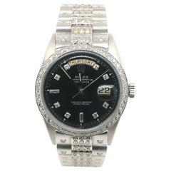 Rolex President Day Date 1803 18 Karat White Gold Diamond Dial Bezel and Band