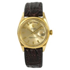 Rolex President Day-Date 1803 Papers Automatic Vintage Watch Wide Boy 18 Karat