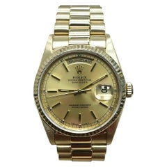 Rolex President Day Date 18238 Champagne Dial 18 Karat Gold Double Quickset
