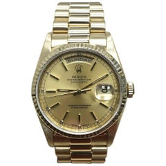Rolex President Day Date 18238 Champagne Dial 18 Karat Yellow Gold
