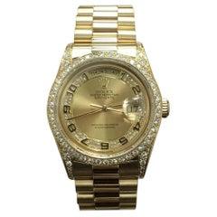 Rolex President Day Date 18388 Myriad Diamond Dial and Bezel 18 Karat Gold Mint
