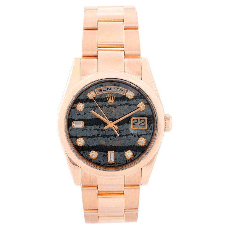 Rolex President Day-Date 18k Rose Gold Men's Watch 118235  For Sale