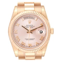 Rolex President Day Date 36 Everose Gold Men's Watch 118235 Unworn