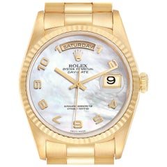 Rolex President Day-Date 36 Mother of Pearl Dial Yellow Gold Men's Watch 18238