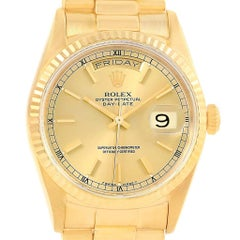 Rolex President Day-Date 36 Yellow Gold Champagne Dial Men's Watch 18238