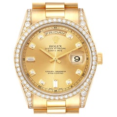 Rolex President Day-Date 36 Yellow Gold Diamond Men's Watch 118388